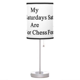 Mis sábados están para el ajedrez