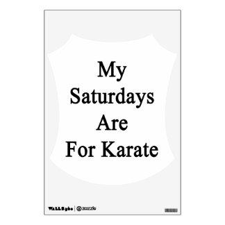 Mis sábados están para el karate