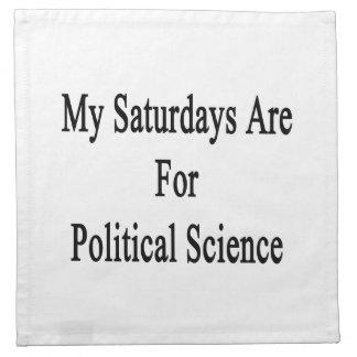 Mis sábados están para la ciencia política servilleta