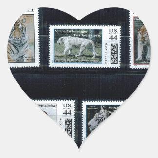 Mis sellos personalizados p1, por pegatina en forma de corazón