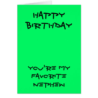 Mis tarjetas de cumpleaños preferidas del sobrino