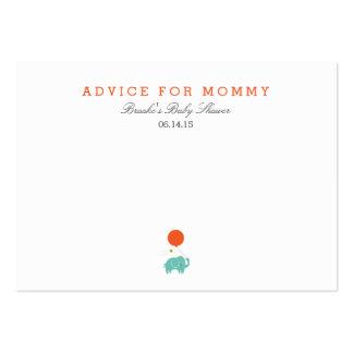Mis tarjetas del consejo de la mamá del globo el | tarjetas de visita grandes