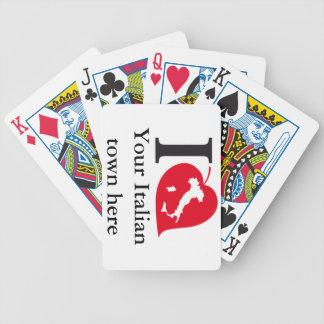 Mis tarjetas del italiano barajas de cartas
