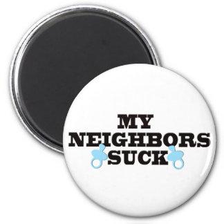 Mis vecinos chupan imán redondo 5 cm