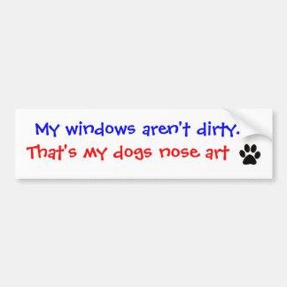 Mis ventanas no son sucias. Pegatina para el parac Pegatina De Parachoque