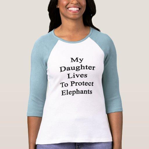 Mis vidas de la hija para proteger elefantes camiseta