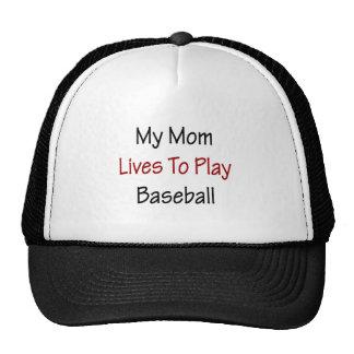 Mis vidas de la mamá para jugar a béisbol gorro