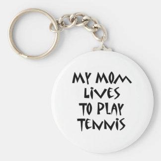 Mis vidas de la mamá para jugar a tenis llavero redondo tipo pin