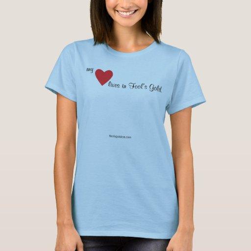 Mis vidas del corazón en la camiseta del oro del