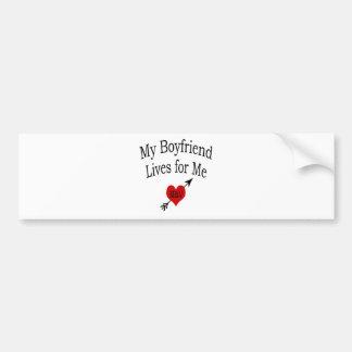 Mis vidas del novio para mí pegatina de parachoque