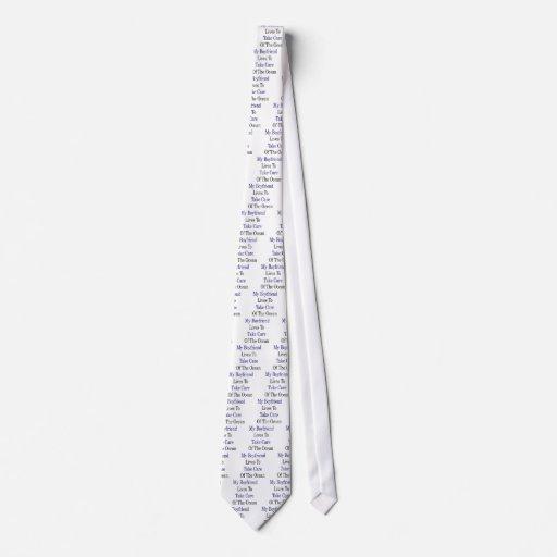 Mis vidas del novio para tomar el cuidado del océa corbata personalizada
