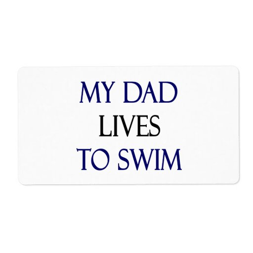 Mis vidas del papá a nadar etiqueta de envío