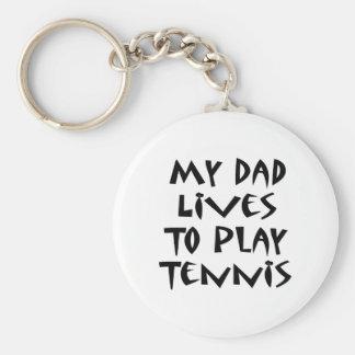 Mis vidas del papá para jugar a tenis llavero redondo tipo pin