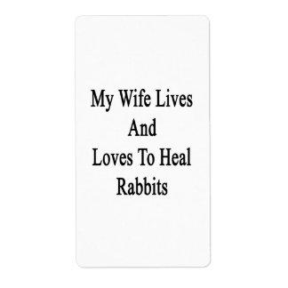 Mis vidas y amores de la esposa para curar conejos etiqueta de envío