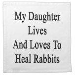 Mis vidas y amores de la hija para curar conejos servilleta de papel