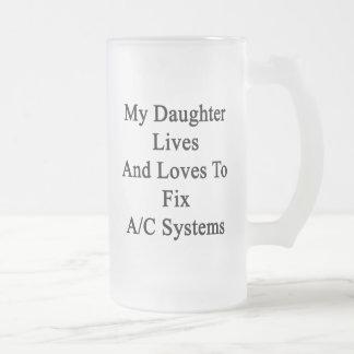 Mis vidas y amores de la hija para fijar sistemas taza de café
