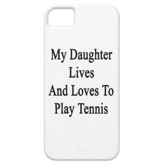 Mis vidas y amores de la hija para jugar a tenis iPhone 5 carcasa