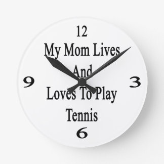Mis vidas y amores de la mamá para jugar a tenis relojes de pared
