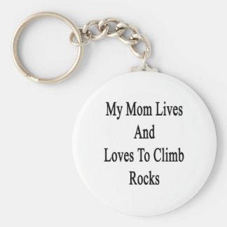 Mis vidas y amores de la mamá para subir rocas llavero personalizado