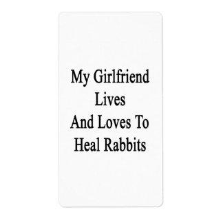 Mis vidas y amores de la novia para curar conejos etiquetas de envío