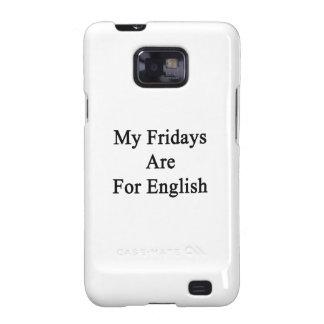 Mis viernes están para el inglés samsung galaxy SII funda