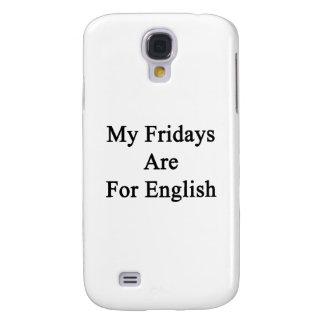 Mis viernes están para el inglés funda para galaxy s4