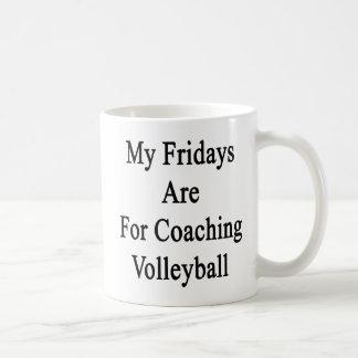 Mis viernes están para el voleibol que entrena taza