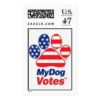 Mis votos del perro en el sello de los E.E.U.U.