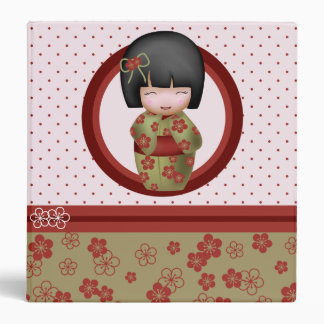 Misaki the kokeshi doll 3 ring binder