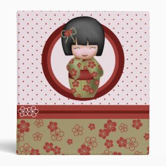 Misaki the kokeshi doll binder