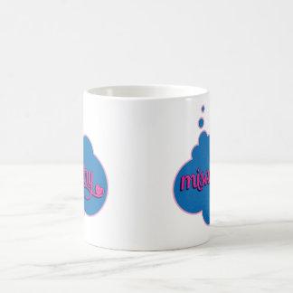 Misandry (pink on blue) Mug
