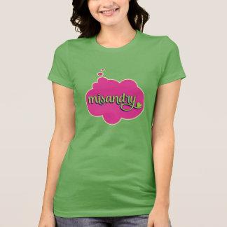 Misandry (verde en rosa) playera