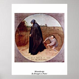 Misanthrope By Bruegel A. Pieter Print