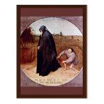 Misanthrope By Bruegel D. Ä. Pieter (Best Quality) Post Cards