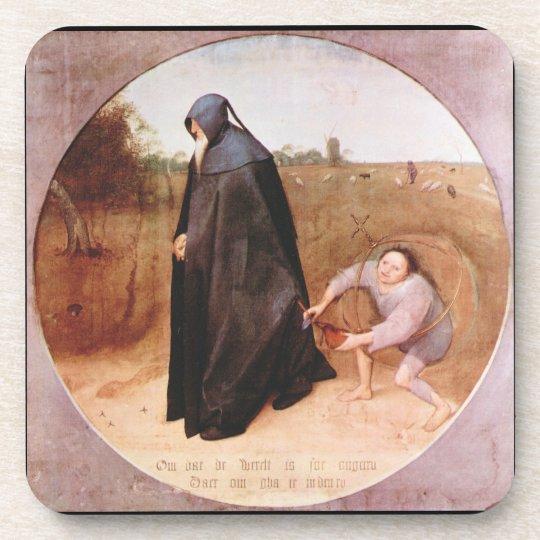 Misanthrope by Pieter Bruegel Beverage Coaster
