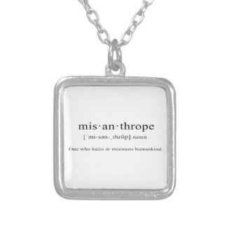 Misanthrope [Definition] Square Pendant Necklace