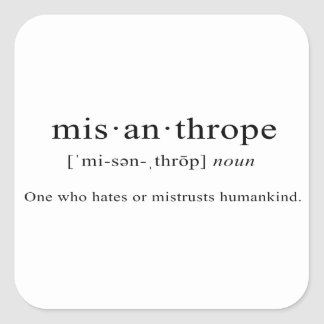 Misanthrope [Definition] Square Sticker