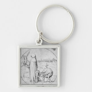 Misanthrope Silver-Colored Square Keychain
