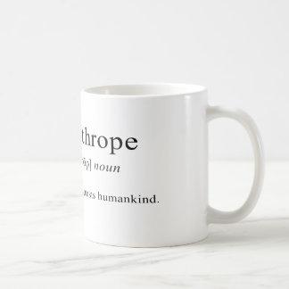 Misántropo [definición] taza clásica