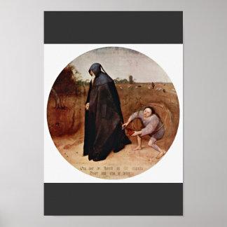Misántropo por Bruegel D. Ä. Pieter (la mejor Póster