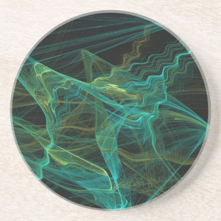 Misc Series-20---Teal Black Coaster 1 of   colors