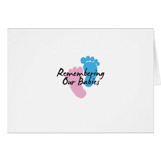 Miscarriage Awareness Remembering Our Babies Card