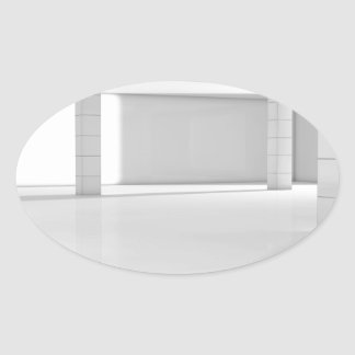 Miscellaneous - 3D Spaces Nineteen Oval Sticker