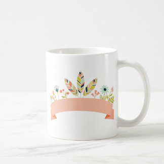Miscellaneous - Abstract Colored Feathers Eleven Coffee Mug