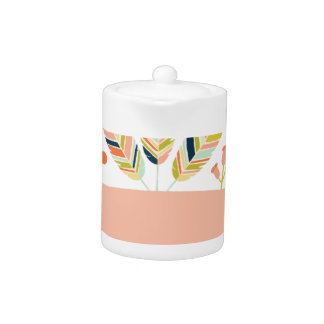 Miscellaneous - Abstract Colored Feathers Eleven Teapot