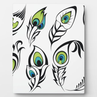 Miscellaneous - Abstract Feathers Patterns Three Plaque