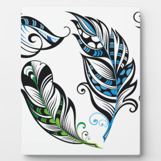 Miscellaneous - Abstract Feathers Patterns Two Plaque