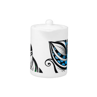 Miscellaneous - Abstract Feathers Patterns Two Teapot