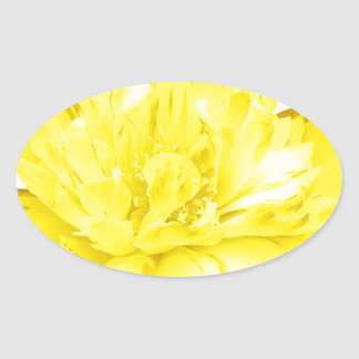 Miscellaneous - Abstract Gold Flowers Nineteen Oval Sticker