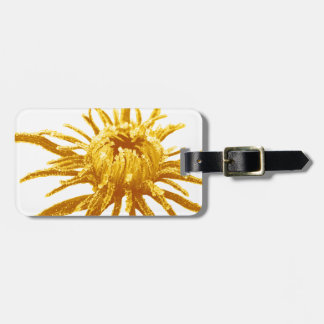 Miscellaneous - Abstract Gold Flowers Pattern Bag Tag